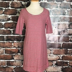 We The Free People Red Grey Stripe Cut Out XS